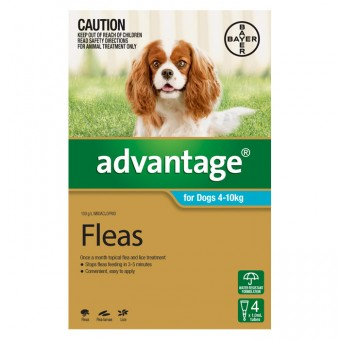 ADVANTAGE DOG SMALL 4-10KG 4 PACK